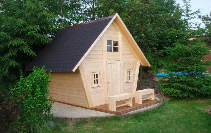 Dřevěný domek pro děti, foto: domky-herold.cz