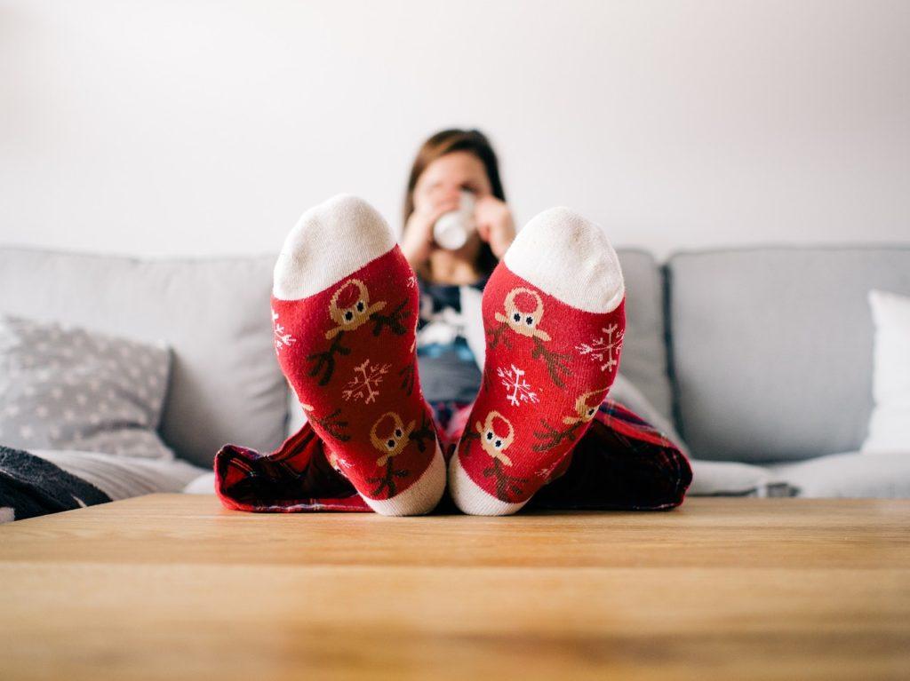 Dáské teplé ponožky